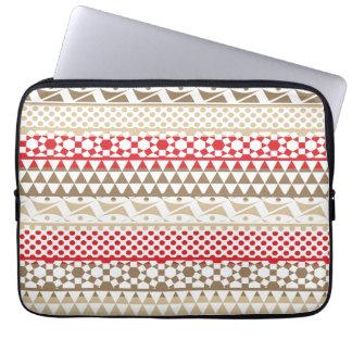 Navajo Geometric Aztec Andes Tribal Print Pattern Laptop Computer Sleeves