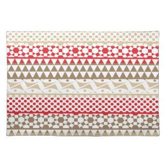 Navajo Geometric Aztec Andes Tribal Print Pattern Place Mat
