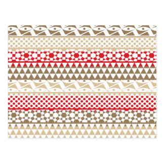 Navajo Geometric Aztec Andes Tribal Print Pattern Postcard