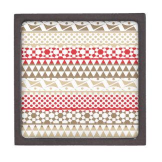 Navajo Geometric Aztec Andes Tribal Print Pattern Premium Jewelry Box