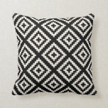Navajo Geometric Black and Cream Pattern Pillows
