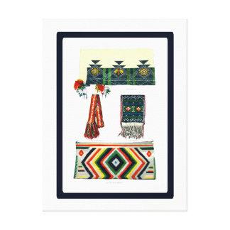 Navajo Hopi and Zuni Indian Blankets Canvas Print
