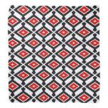 Navajo Ikat Pattern - Dark Red, Black and White Bandana