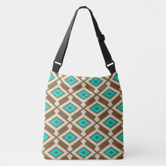 Navajo Ikat Pattern - Turquoise, Taupe and Beige Tote Bag