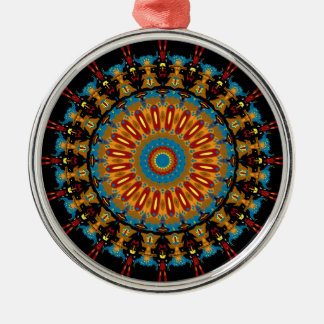 Navajo Inspired Design No. 4 Round Metal Christmas Ornament