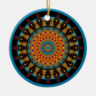 Navajo Inspired Design No. 4 Double-Sided Ceramic Round Christmas Ornament