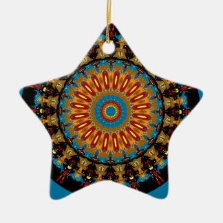 Navajo Inspired Design No. 4 Double-Sided Star Ceramic Christmas Ornament