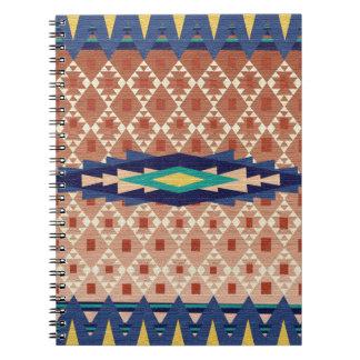 Navajo inspiró geométrico moderno del sudoeste - libretas
