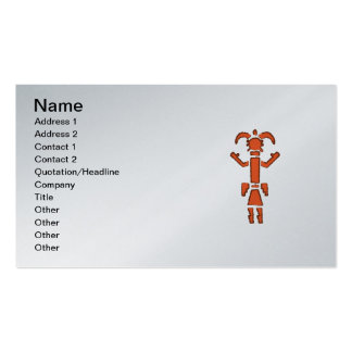 Navajo Kachina - Southwest Indian Design Double-Sided Standard Business Cards (Pack Of 100)