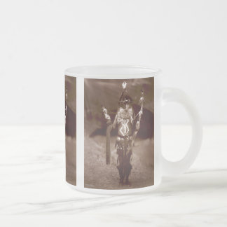 Navajo man in ceremonial dress frosted glass coffee mug