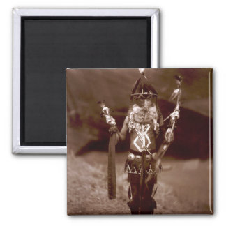 Navajo man in ceremonial dress magnet