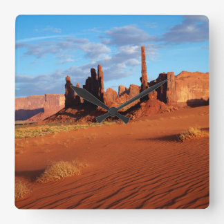 Navajo Nation, Monument Valley, Yei Bi Chei Square Wall Clock