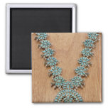 Navajo necklace 2 inch square magnet