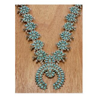 Navajo necklace postcard