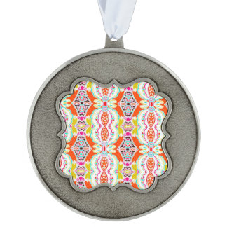 NAVAJO ORANGE TRIBAL PATTERN ORNAMENT