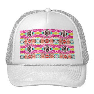 NAVAJO PINK TRIBAL PATTERN TRUCKER HAT