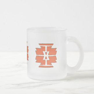 Navajo Print - Southwest Indian Design Frosted Glass Coffee Mug