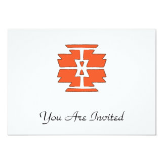 Navajo Print - Southwest Indian Design 5x7 Paper Invitation Card