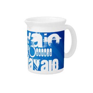 Navajo; Rayas azules reales Jarra Para Bebida