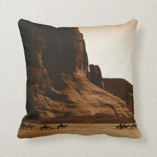 """Navajo Riders"" -- Edward S. Curtis (1904) Pillow"