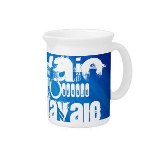 Navajo; Royal Blue Stripes Beverage Pitchers