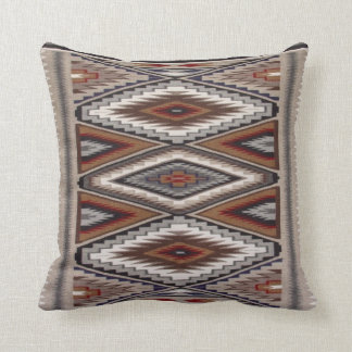 Navajo Rug II Throw Pillow
