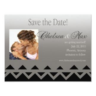 "Navajo ""Save The Date"" Invitation (grey)"