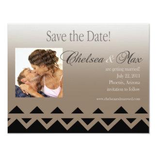 "Navajo ""Save The Date"" Invitation (taupe)"