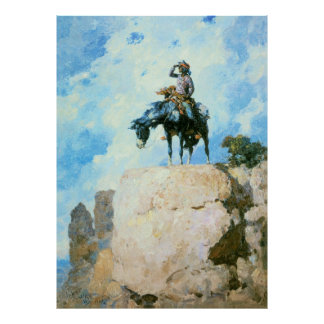 Navajo Scout, by William Robinson Leigh Poster