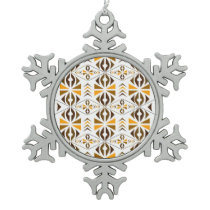 Navajo Snowflake Pewter Christmas Ornament