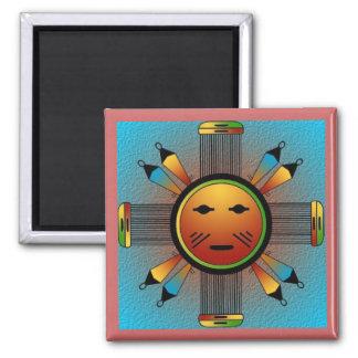 Navajo Sun hace frente Imanes De Nevera