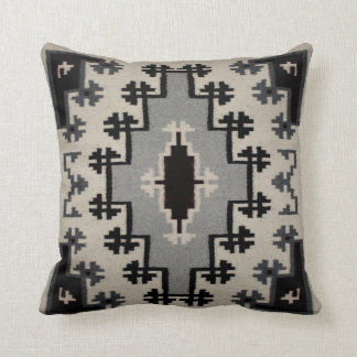 Navajo - Two Grey Hills Design II Throw Pillow