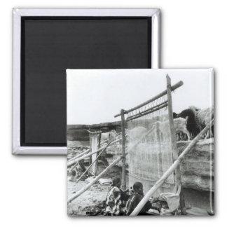Navajo weavers, c.1914 2 inch square magnet