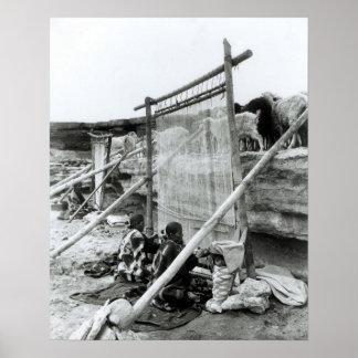 Navajo weavers, c.1914 poster