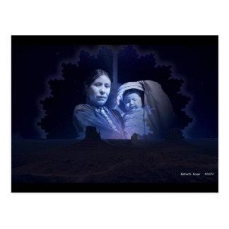 Navajo Woman and Child Postcard