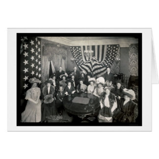 Naval Academy Sponsors Photo 1908 Greeting Card