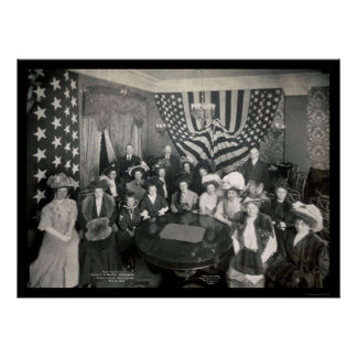 Naval Academy Sponsors Photo 1908 Poster