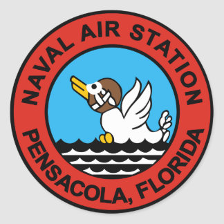 Naval Air Station Pensacola Classic Round Sticker