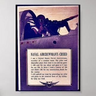 Naval Aircrewman'a Creed Poster