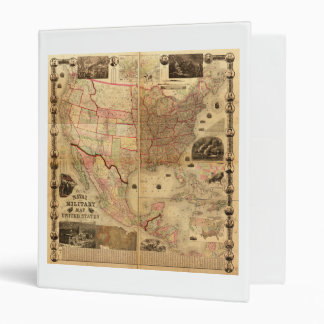 Naval and Military Map of the United States (1862) 3 Ring Binder