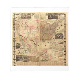 Naval and Military Map of the United States (1862) Notepad