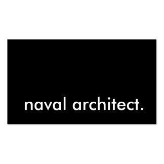 naval architect business cards