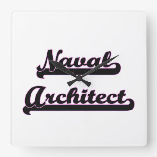 Naval Architect Classic Job Design Square Wall Clock