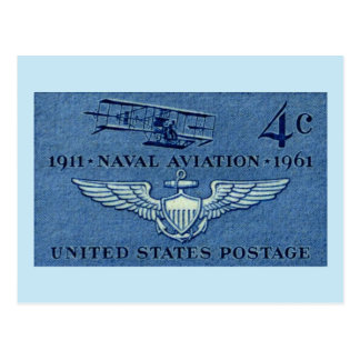 Naval Aviation Airplane Large Vintage Postcard