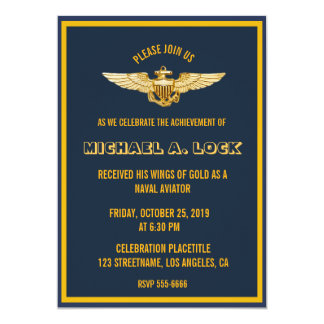 Naval Aviator / Wings of Gold Invitations