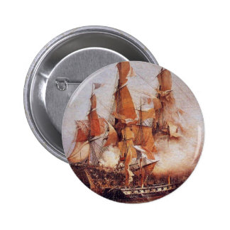 Naval battle between the Confiance and HMS Kent Pinback Button