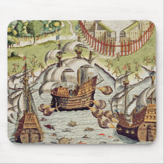 Naval Battle between the Portuguese and French Mouse Pad