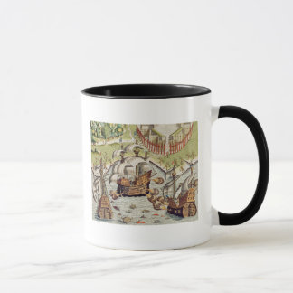 Naval Battle between the Portuguese and French Mug