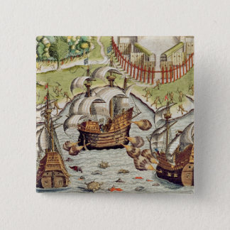 Naval Battle between the Portuguese and French Pinback Button
