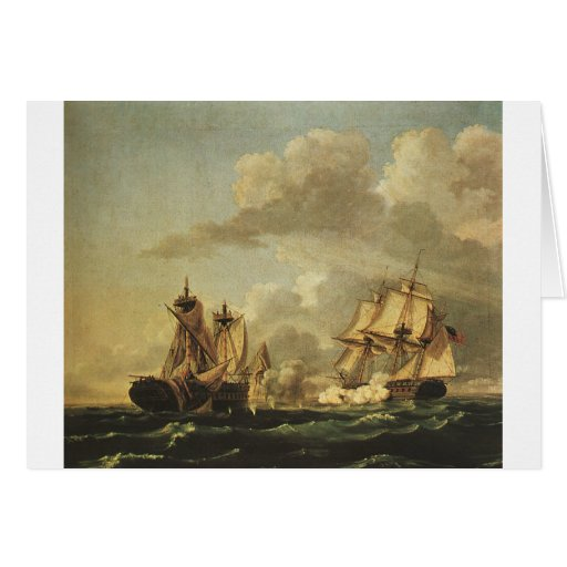 Naval Battle Between the USA and Macedonia Greeting Card